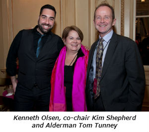 Kenneth Olsen co-chair Kim Shepherd and Alderman Tom Tunney