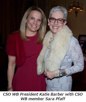 CSO WB President Katie Barber with CSO WB member Sara Pfaff