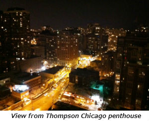 View from Thompson Chicago penthouse