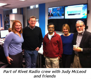 Part of Rivet Radio crew with Judy McLeod and friends