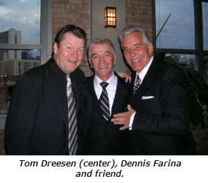 Tom Dreesen (center) Dennis Farina and friend