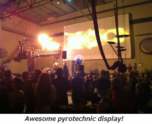 Awesome pyrotechnic display