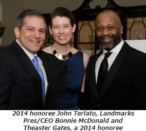 2014 honoree John Terlato Landmarks PresCEO Bonnie McDonald and Theaster Gates a 2014 honoree