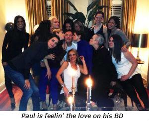 Paul is feelin the love on his BD