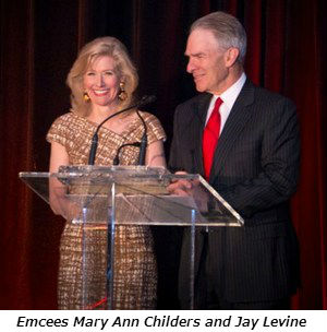 Emcees Mary Ann Childers and Jay Levine