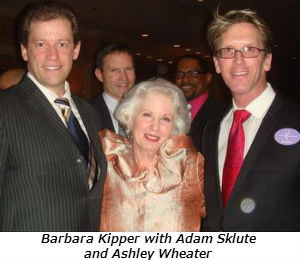 Barbara Kipper with Adam Sklute and Ashley Wheater
