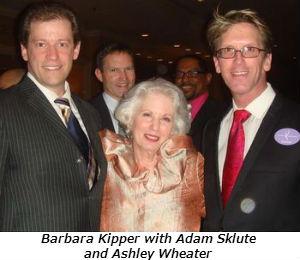 Barbara Kipper with Adam Sklute and Ashley Wheater