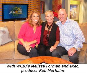 Co-hosting WCIU with Melissa and Rob 8-8-13