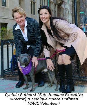 Cynthia Bathurst (Safe Humane Executive Director) & Monique Moore-Hoffman (CACC Volunteer)