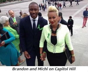 Brandon and Michi on Capitol Hill