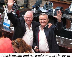 Chuck Jordan and Michael Kutza at the event