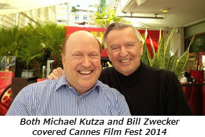 Both Michael Kutza and Bill Zwecker covered Cannes Film Fest 2014