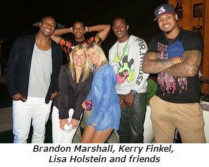Brandon Marshall Kerry Finkel Lisa Holstein and friends