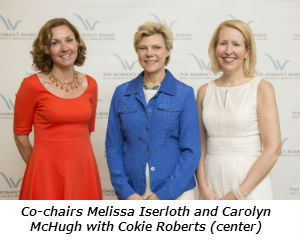 Melissa Iserloth, Cokie ROberts, Carolyn McHugh