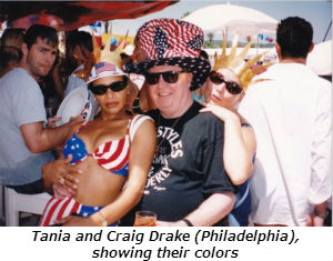 Tania and Craig Drake Philadelphia showing their colors