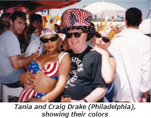 Tania and Craig Drake Philadelphia showing their colors