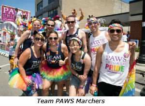 Team PAWS Marchers