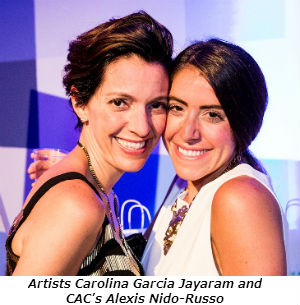 Artists Carolina Garcia Jayaram and CAC's Alexis Nido-Russo