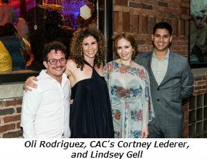 Oli Rodriguez CAC's Cortney Lederer and Lindsey Gell
