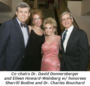 Co-chairs Dr  David Donnersberger and Eileen Howard-Weinberg w honorees Sherrill Bodine and Dr Char