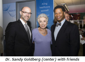 Dr Sandy Goldberg center with friends