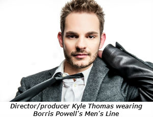 Directorproducer Kyle Thomas wearing Borris Powell's Men's Line