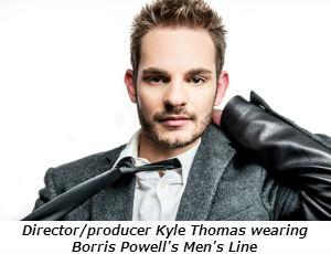 Directorproducer Kyle Thomas wearing Borris Powell's Men's Line