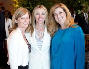 Nancy Huser, Spirit of Shakespeare Award Civic honoree Denise Smith and CST Board member Stephanie Pope