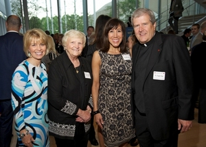 Lois Gates, Sr. Rosemary Connelly, Fr. Jack Clair of Misericordia and Nina Mariano.