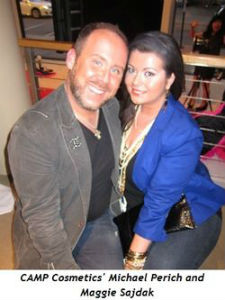 CAMP Cosmetic's Michael Perich with Maggie Sajdak