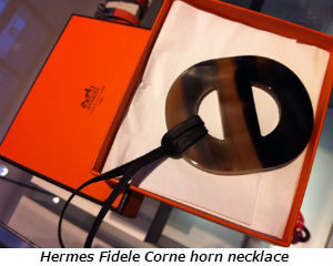 Hermes Fidele Corne horn necklace
