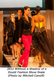 2012 Without a Shadow of a Doubt Fashion Show finale (Photo by Mitchell Canoff)