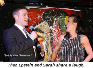Theo Epstein and Sarah share a laugh.
