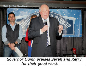 Governor Quinn praises Sarah and Kerry for their good work