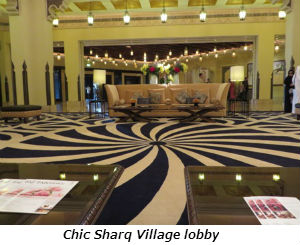 Chic Sharq Village lobby