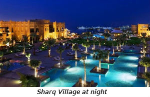 Sharq Village at night
