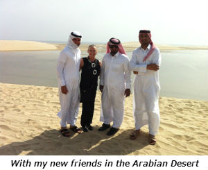 With my new friends in the Arabian Desert