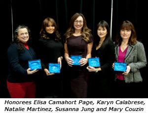 Honorees Elisa Camahort Page Karyn Calabrese Natalie Martinez Susanna Jung and Mary Couzin