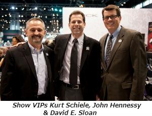 Show VIPs Kurt Schiele John Hennessy and David E Sloan