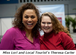 Miss Lori and Local Tourists Theresa Carter