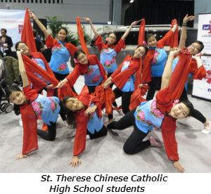 St Therese Chinese Catholic High School students
