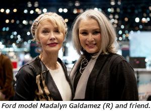 Ford model Madalyn Galdamez R and friend