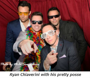 Ryan Chiaverini with his pretty posse