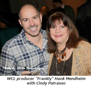 WCL producer Frankly Hank Mendheim with Cindy Patrasso