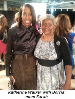 Katherine Walker with Borris mom Sarah