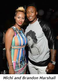 Michi and Brandon Marshall