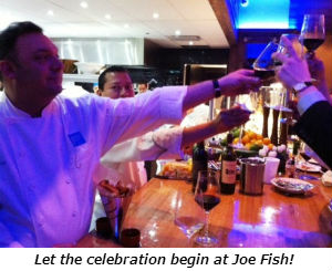 Let the celebration begin at Joe Fish