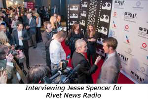Interviewing Jesse Spencer for Rivet News Radio