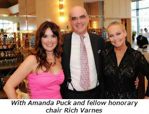 With Amanda Puck and fellow honorary chair Rich Varnes