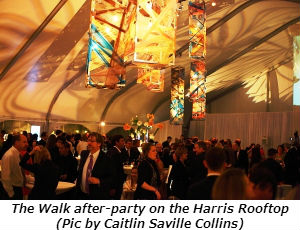 The Walk after-party on the Harris Rooftop Pic by Caitlin Saville Collins